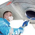 Cleaning and disinfecting ventilation system